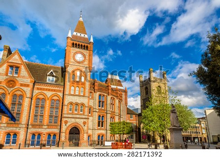 Town hall of Reading - England, United Kingdom - stock photo