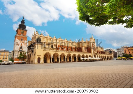 Town Hall Tower, Wieza ratuszowa w Krakowie - stock photo