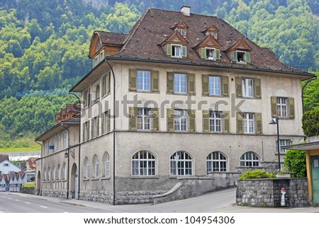 Town Howk  in the Swiss Alps - stock photo