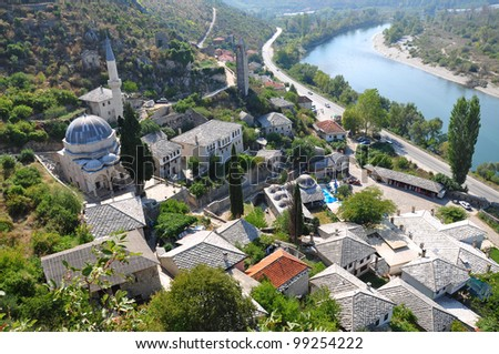town in bosnia - stock photo