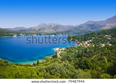 Town in Croatia - abstact travel background