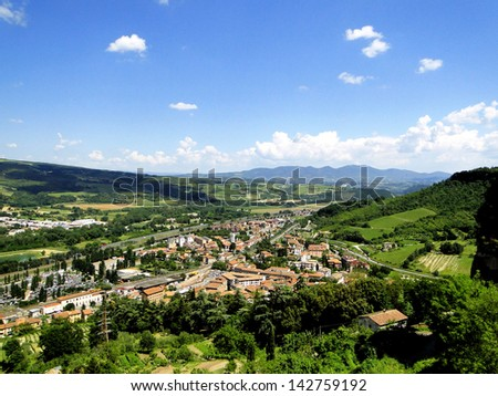 Town in Umbria - stock photo