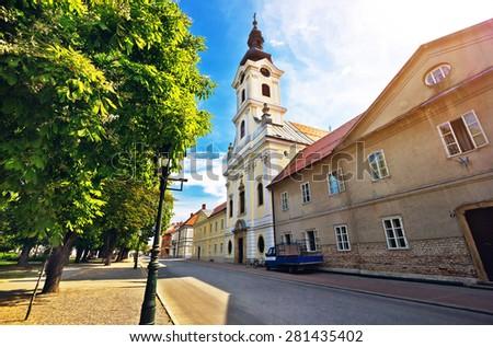 Town of Bjelovar square view, Croatia - stock photo