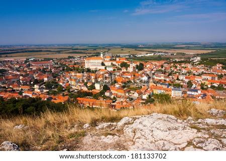 Town of Mikulov, Czech Republic - stock photo