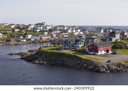 Town of Port aux Basques, Newfoundland, Canada - stock photo