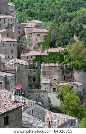 town of Scansano in Tuscany