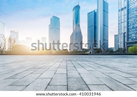 town square,shanghai china. - stock photo