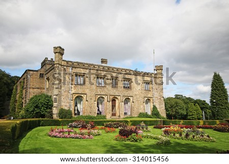 Towneley Hall, Burnley was the home of the Towneley family for over 500 years but in 1901 it was sold to Burnley Corporation and today is the town's Art Gallery and Museum,  - stock photo