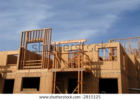 Townhouse under construction, Mountain View, California