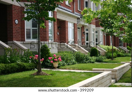 Townhouses - stock photo