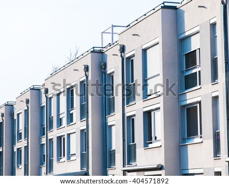 townhouses at berlin, germany - stock photo