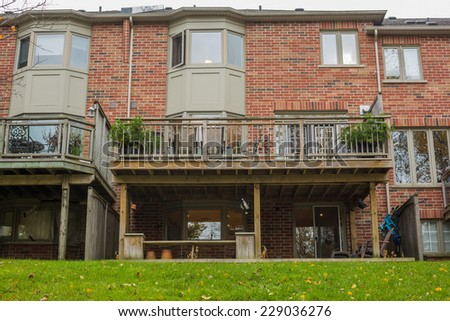 Townhouses or condominium in Canada - stock photo