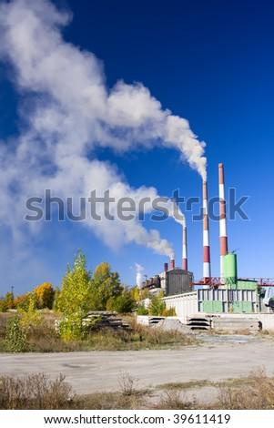 toxic pollution - stock photo