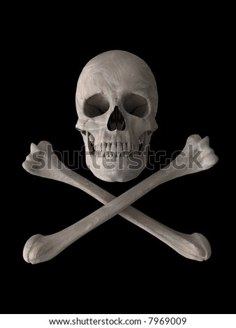 toxic skull symbol 3d computer generated image vertical format - stock photo
