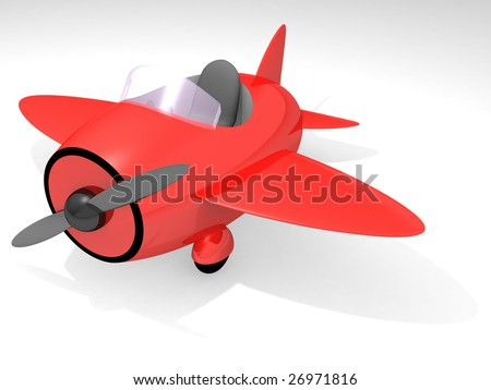 Toy airplane - stock photo