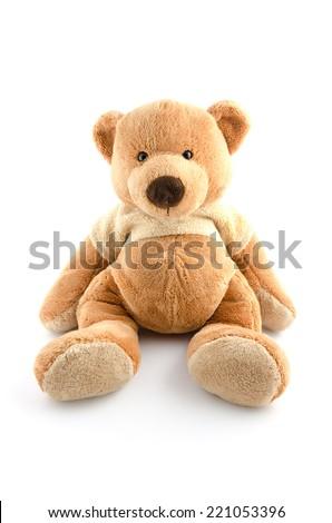 toy bear isolated on white - stock photo