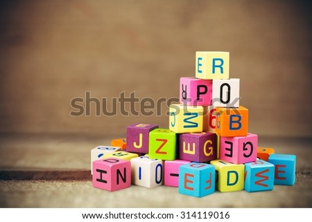 Toy blocks. - stock photo