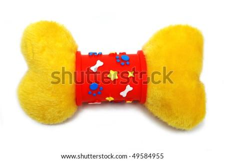 Toy bone isolated - stock photo