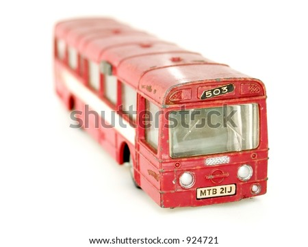 Toy car. Isolated Object - stock photo