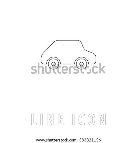 Van car delivery logo design vector stock vector 568728439 toy car logo template outline simple pictogram on white line icon pronofoot35fo Choice Image