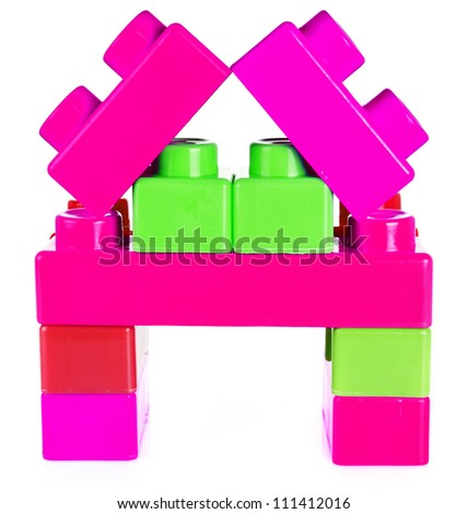 toy for children colorful constructor - stock photo