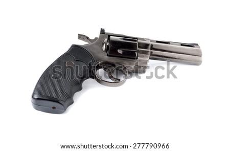 toy gun on white background - stock photo