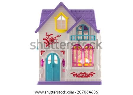 Toy House isolated on White Background - stock photo