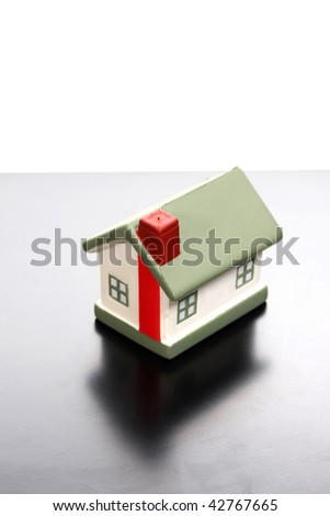 toy house, toy & business photo - stock photo