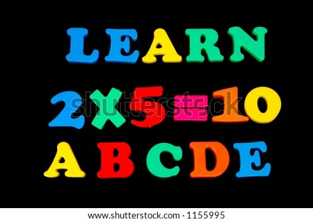 Toy Letters and Numbers - Learning