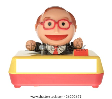 toy man tv presenter - stock photo