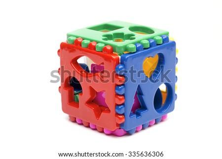 toy on the white background - stock photo
