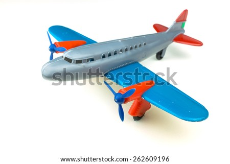 Toy plane - stock photo
