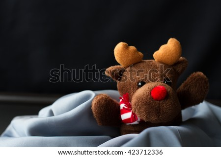 toy reindeer Christmas present child - stock photo