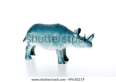 toy rhino - stock photo