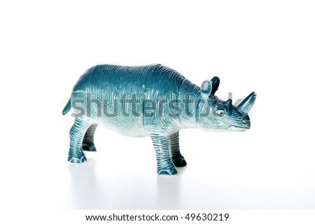 toy rhino - stock photo