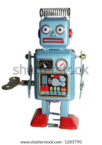 Toy robot - stock photo