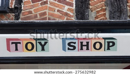 Toy Shop Sign