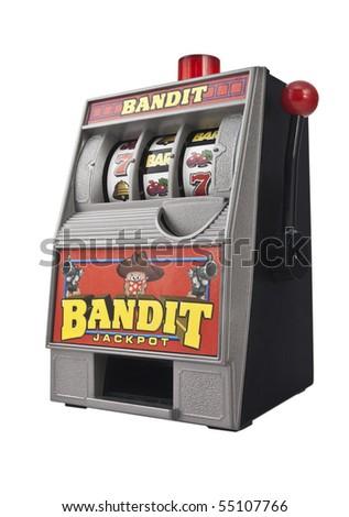 Toy slot machine - stock photo
