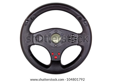toy steering wheel isolated