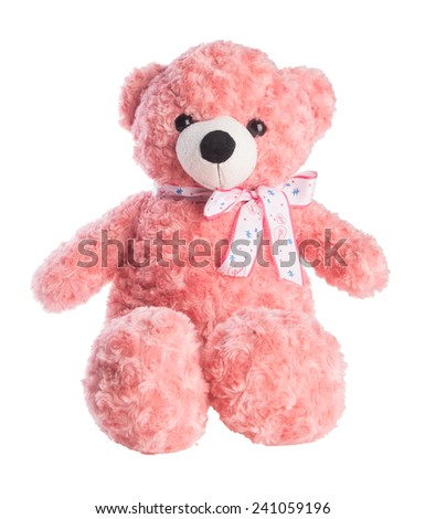 toy. toy bear on a background. toy bear on a background - stock photo
