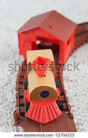 Toy train - stock photo