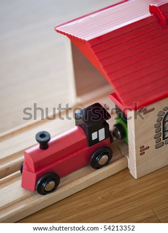 toy train - stock photo