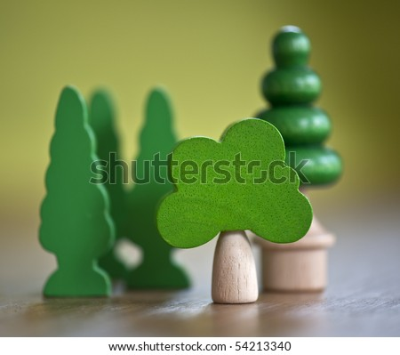 toy tree - stock photo