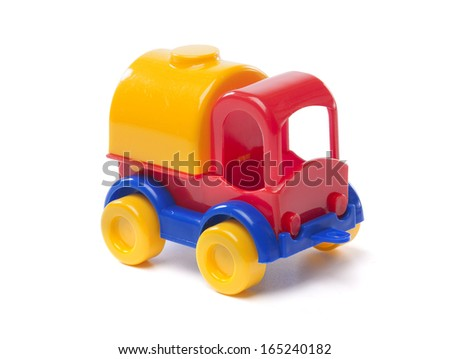 toy truck on white background
