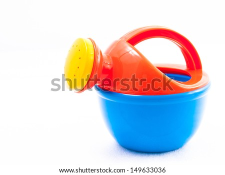 Toy watering on white background