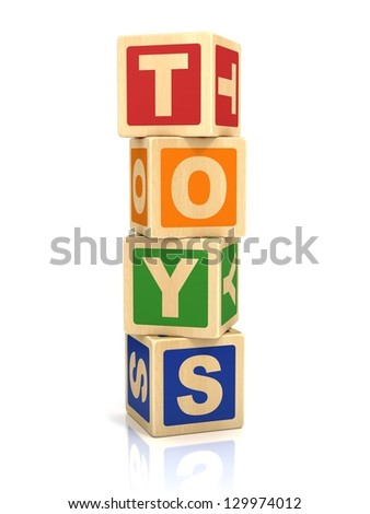 toys 3d icon - stock photo