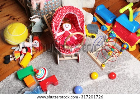 toys in children's room - stock photo