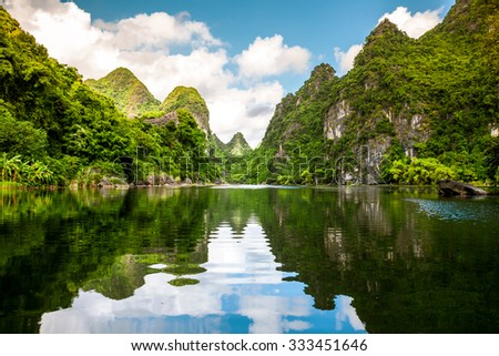 Tràng An is a scenic area near Ninh Bình, Vietnam renowned for its boat cave tours. this is a UNESCO World Heritage Site