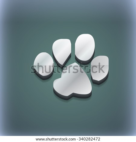 trace dogs icon symbol. 3D style. Trendy, modern design with space for your text illustration. Raster version - stock photo