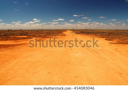 Track across the Australian outback